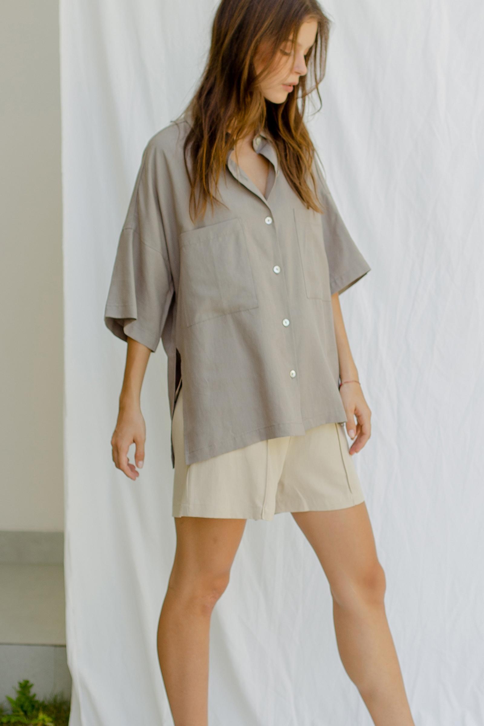 Picture of Naida Shirt Grey Khaki